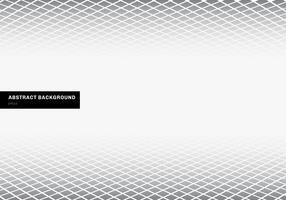 Weißer Hintergrund des grauen quadratischen Musterperspektivenbodens der abstrakten Schablone mit Kopienraum. Geometrische Formen