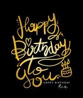 Grattis på födelsedagen till dig design vektor