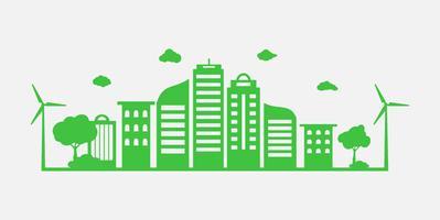 Grünes Gras und Baum mit eco freundlichem und Ökologiekonzept. Natur Grüne Stadt und Umweltwelt. vektor