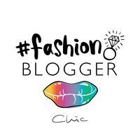 Modeblogger schick vektor