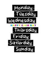 Tage einer Woche vektor