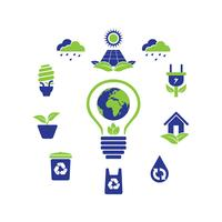 eco green logo icon designsamling