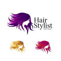Skönhetssalong Logo Set Template