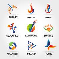 Abstrakter bunter Logo Set Sign Symbol Icon vektor
