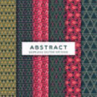 abstrakt triangel sömlös vektor mönster