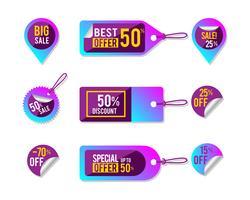 Sale-Tag-Auflistung vektor