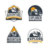 Entdecken Sie die Adventure Logo Collection vektor