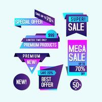 Lila Farbverlauf Banner Verkauf Entwurfsvorlage vektor