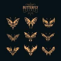Schmetterling Ornament Set