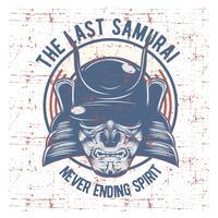 Samurai-Kriegermaske vektor