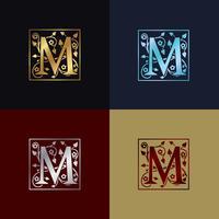 Buchstabe M dekoratives Logo