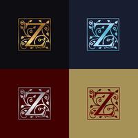 Brev Z Dekorativ logotyp