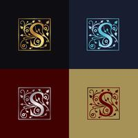 Brev S Dekorativa logotyp