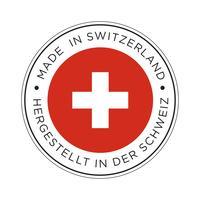 Made in Switzerland Flaggensymbol. vektor