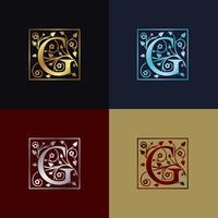 Brev G Dekorativa logotyp
