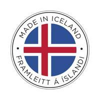 Made in Iceland Kennzeichnungssymbol. vektor