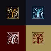Buchstabe Y dekoratives Logo
