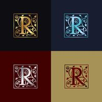 Buchstabe R dekoratives Logo