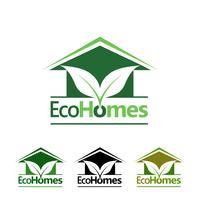 Öko-Häuser-Logo vektor
