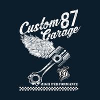 vintage anpassade motorcykel emblem, etiketter, märken, logotyper, utskrifter, mallar. Layered, isolerad på mörk bakgrund Lätt ryttare