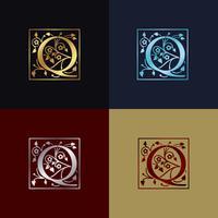 Buchstabe Q dekoratives Logo