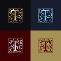 Letter T Dekorativ logotyp