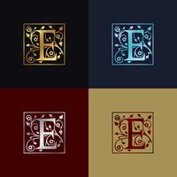 Buchstabe E dekoratives Logo