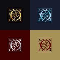 Buchstabe O dekoratives Logo