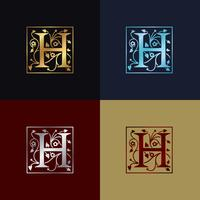 Buchstabe H dekoratives Logo