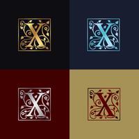 Buchstabe X dekoratives Logo