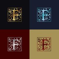 Letter F Dekorativ logotyp
