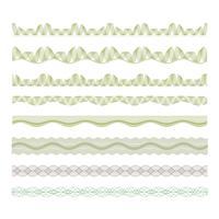 guilloche dekorativa gränser uppsättning vektor