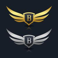 Brev B emblem Logo vektor