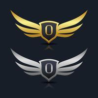 Buchstabe O Emblem Logo