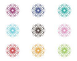 Skönhet Vector blommor design logo Mall ikon