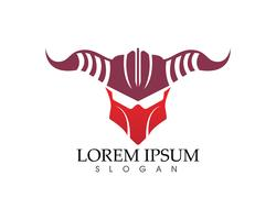 Gladiator Mask Krieger Logo und Symbole Vorlage