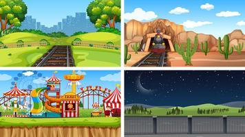 Set av olika landskap
