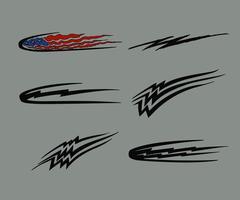 Bil Motorcykel Racing Fordon Grafik, Tribal Vinyler och Dekaler