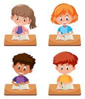 Eine Reihe von Studenten zu studieren
