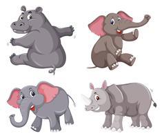 Set von Tiercharakter vektor