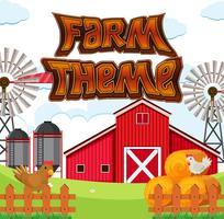 Satz des Bauernhofthemas vektor