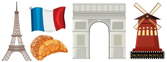 Set von Frankreich Element vektor