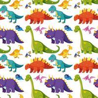 Flache Dinosaurier nahtlose Hintergrund vektor