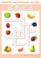 En fruktkorsordsmall vektor