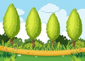 Ett grönt naturlandskap vektor