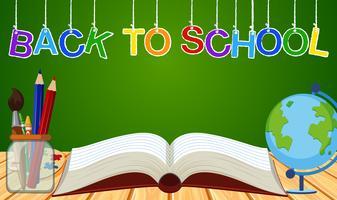 Hintergrundthema für zurück zu Schule vektor