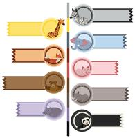 Banner mallar med söta djur vektor