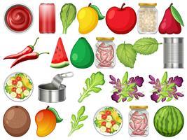 Sats av hälsosam mat vektor