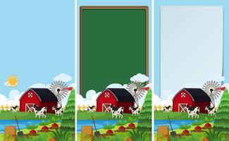 Hintergrundvorlagen mit Bauernhof-Szene