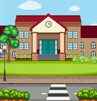 Eine Schulgebäudeszene vektor